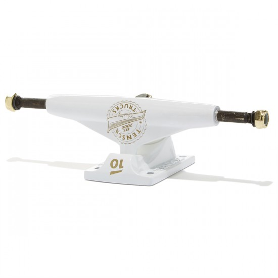 Tensor Quality Seal Lo Skateboard Truck - White/White/Gold