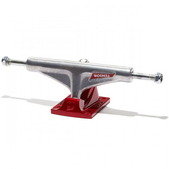 Tensor Alum Reg Mini Flick Skateboard Truck - Raw/Red