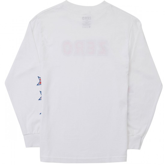 Zero American Bold Long Sleeve T-Shirt - White