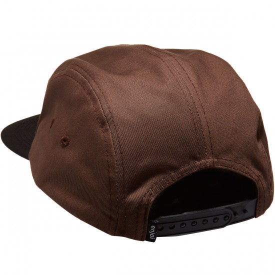 Enjoi Leather Patch 5-Panel Hat - Brown Camo