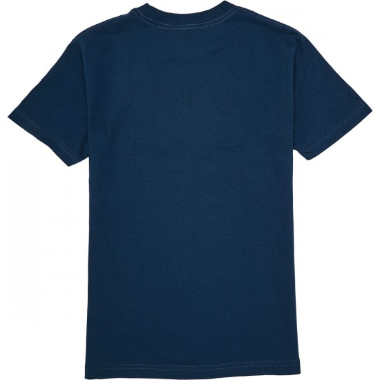 Heritage Fuzzy Snow Frog T-Shirt - Harbor Blue