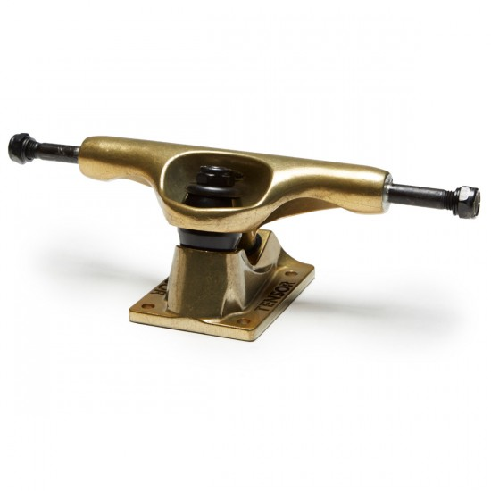 Tensor Alum Reg Split Skateboard Trucks - Black/Gold