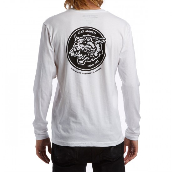 SUPERbrand Mad Cat Long Sleeve T-Shirt - White