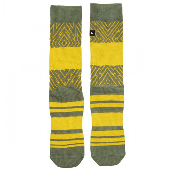 Richer Poorer Foliage Socks - Olive