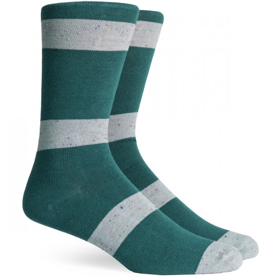 Richer Poorer London Socks - Green/Grey