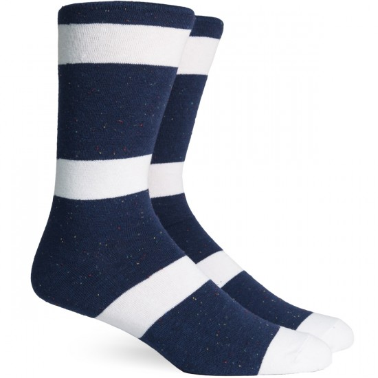 Richer Poorer London Socks - Navy/White