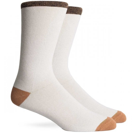 Richer Poorer Tanner Socks - White/Tan