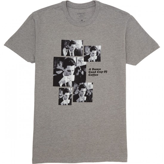 Habitat X Twin Peaks Cooper Coffee Squence T-Shirt - Athletic Heather