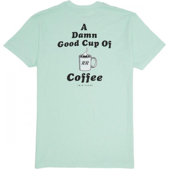 Habitat X Twin Peaks Damn Good Coffee T-Shirt - Aqua