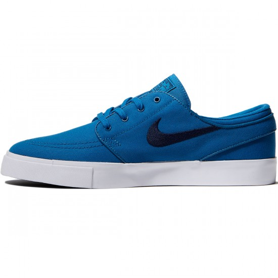 Nike Zoom Stefan Janoski Canvas Shoes - Industrial Blue/Obsidian - 10.0