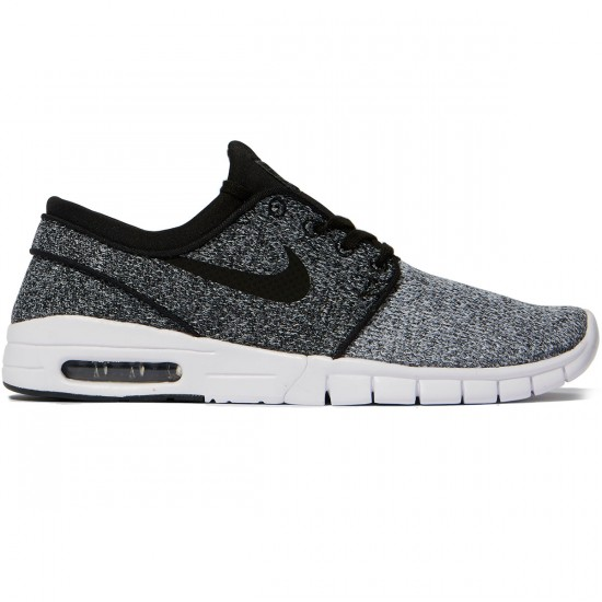 Nike Stefan Janoski Max Shoes - White/Black/Dark Grey - 7.0