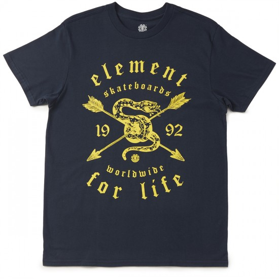 Element Snake Charmer T-Shirt - Navy