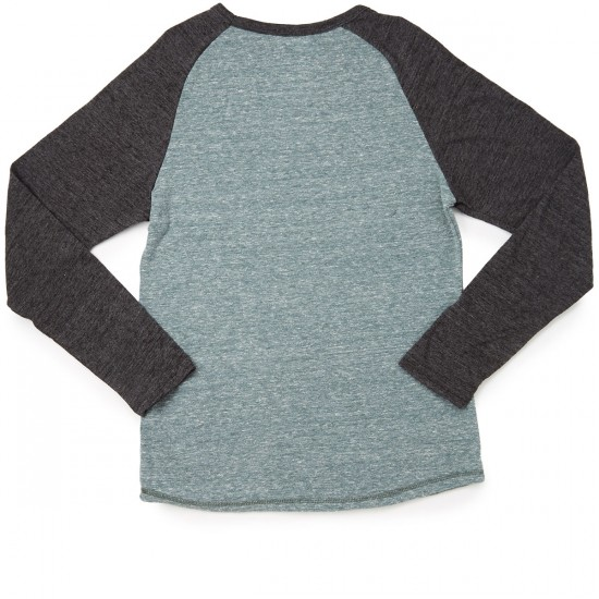 Element Fundamental Long Sleeve Raglan T-Shirt - Ponderosa Green Heather