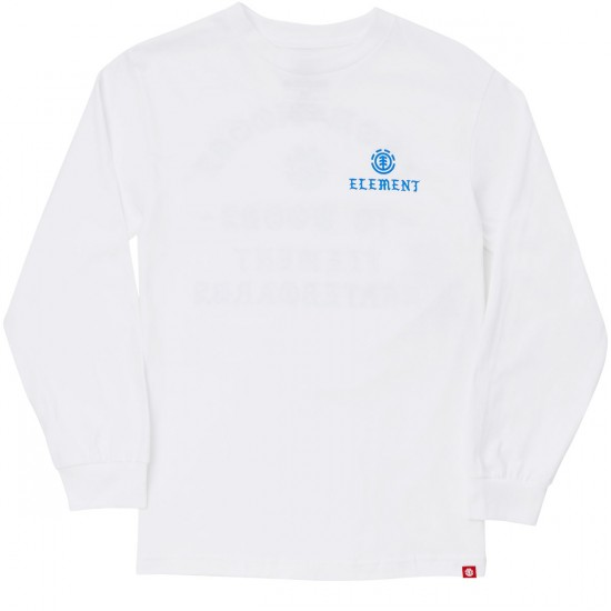 Element Skateboards Hood Long Sleeve T-Shirt - White
