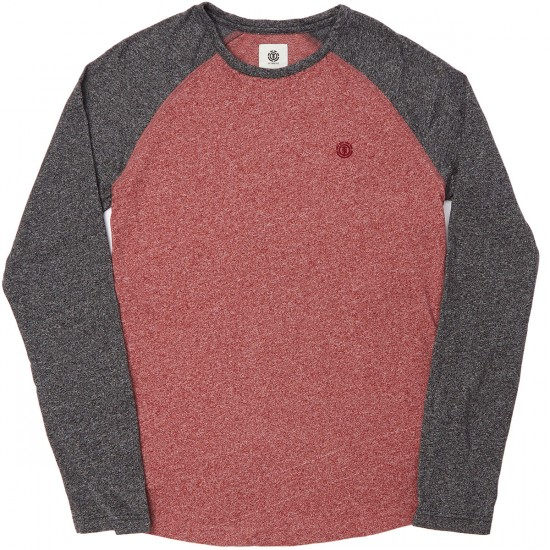 Element Skateboards Garwood Long Sleeve T-Shirt - Nappa Red