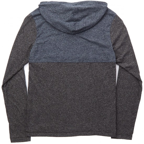 Element Skateboards Aiden Long Sleeve Hooded T-Shirt - Charcoal Heather