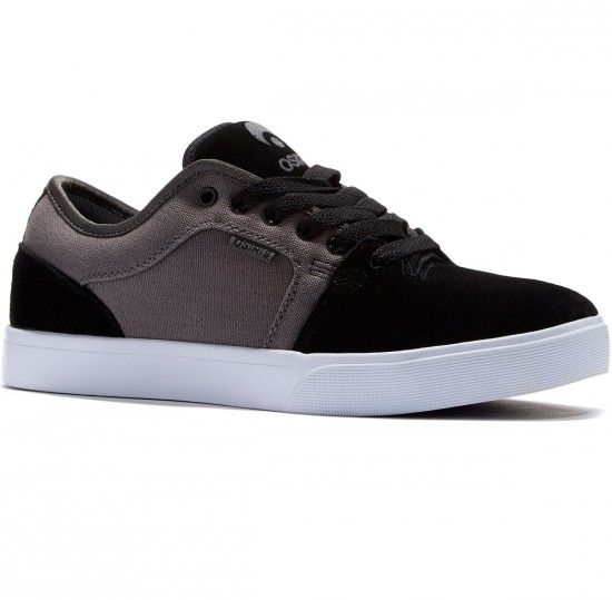 Osiris Decay Shoes - Black/Dark Grey - 8.0
