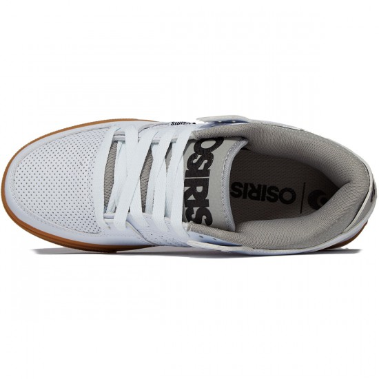 Osiris Protocol Shoes - White/Grey/Gum - 8.0
