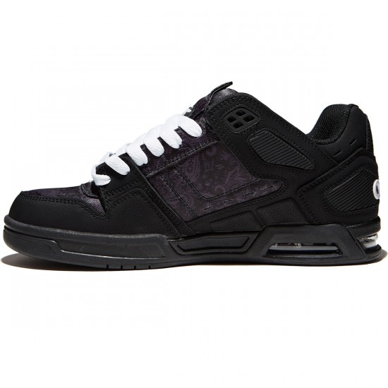 Osiris Peril Shoes - Black/Paisley - 8.0