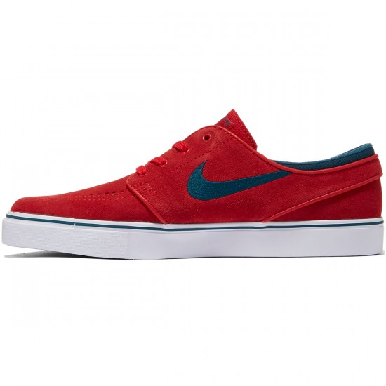 Nike Zoom Stefan Janoski Shoes - Red/White/Gum/Turquoise - 7.5