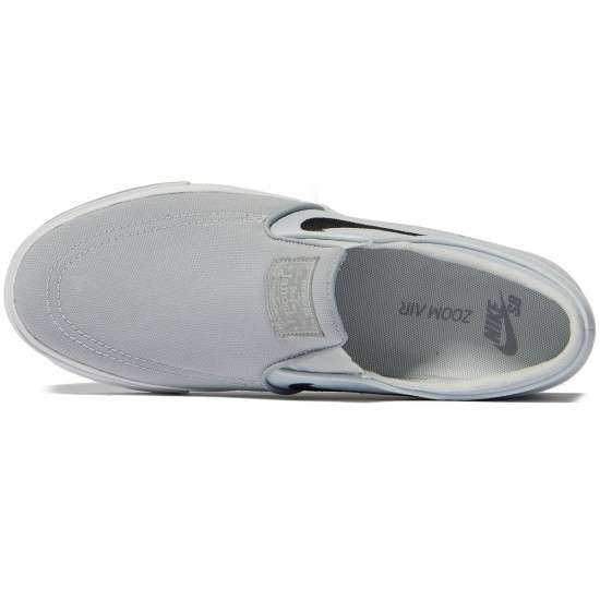Nike Zoom Stefan Janoski Slip-On Shoes - Wolf Grey/Black/Pure Platinum - 7.0