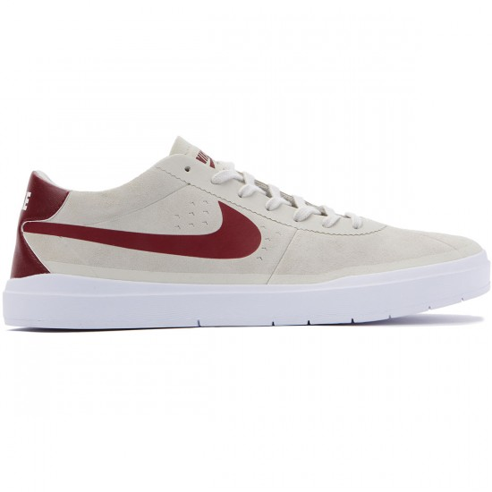 Nike SB Bruin Hyperfeel Shoes - Summit White/Red/White - 7.0