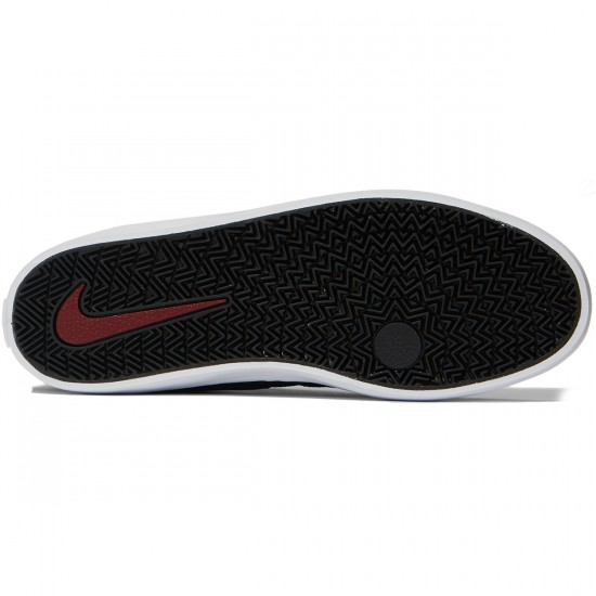 Nike SB Check Solarsoft Shoes - Black/Black/Red - 7.0