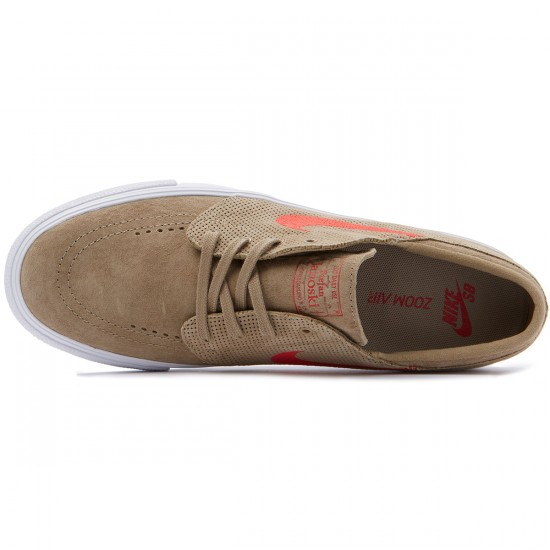 Nike SB Zoom Stefan Janoski HT Shoes - Khaki/Red - 7.0