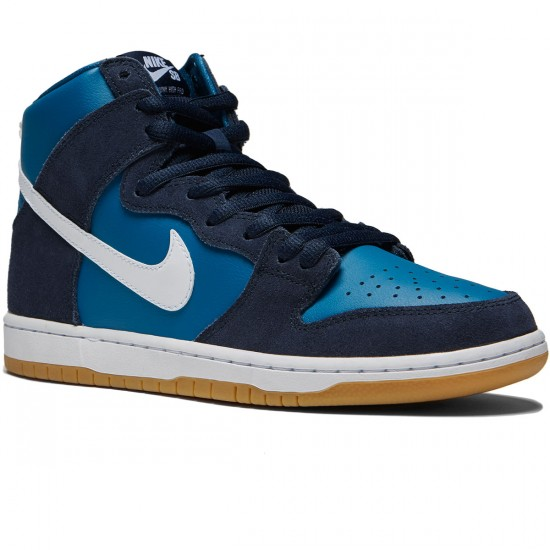 Nike Dunk High Pro SB Shoes - Obsidian/White/Industrial Blue - 8.0