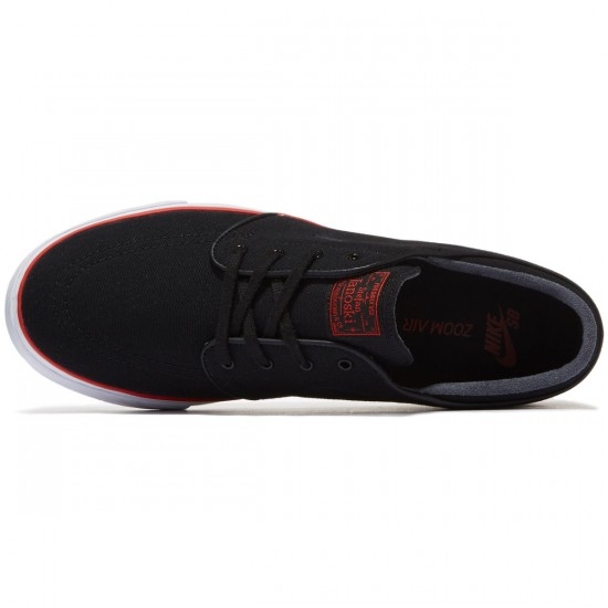 Nike Zoom Stefan Janoski Canvas Shoes - Black/Black/Max Orange - 7.0