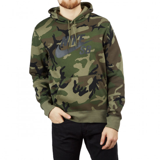 for whole family speical offer store Nike SB Icon ERDL Hoodie - Medium Olive/Medium Olive/Black