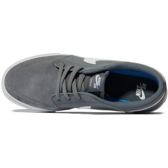 Nike SB Solarsoft Portmore II Shoes - Cool Grey/White/Black - 7.0