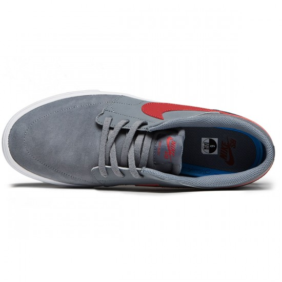 Nike SB Solarsoft Portmore II Shoes - Cool Grey/Cedar White/Black - 7.0