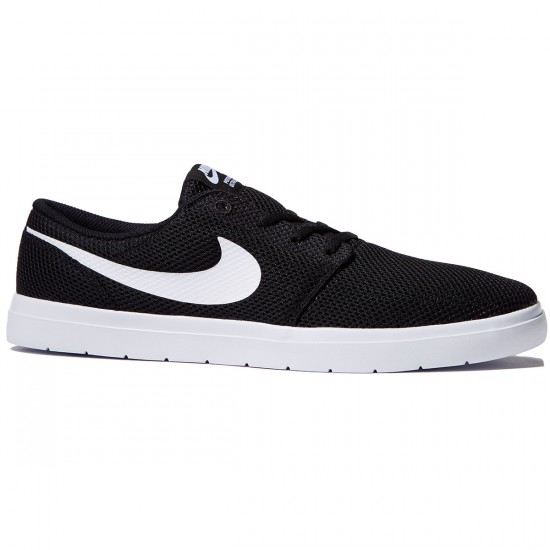 Nike SB Portmore II Ultralight Shoes - Black/White - 10.0