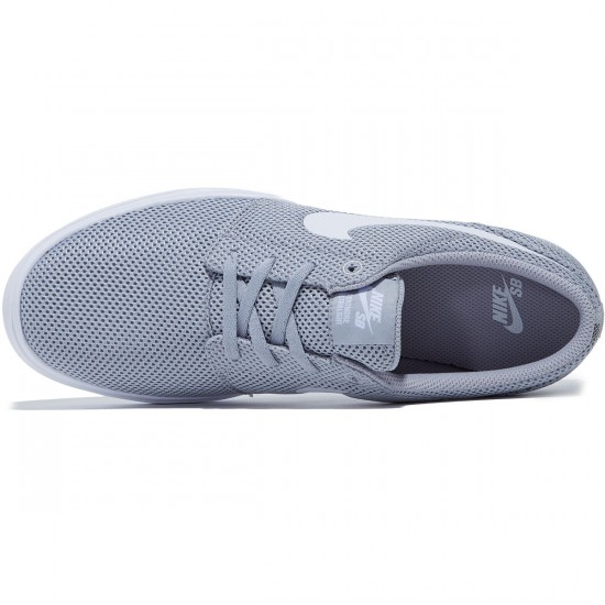 Nike SB Portmore II Ultralight Shoes - Wolf Grey/White - 7.0