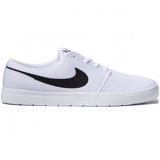 Nike SB Portmore II Ultralight Shoes - White/Black/Track Red - 10.0