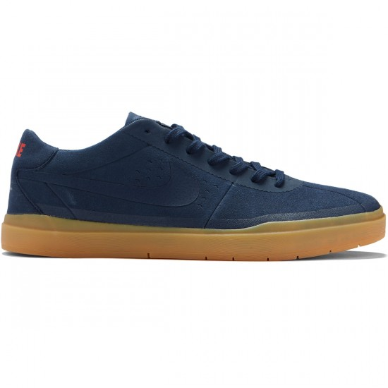 Nike SB Bruin Hyperfeel Shoes - Obsidian/Gum Light Brown - 9.0