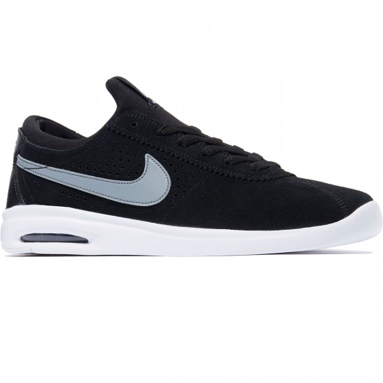 Nike SB Air Max Bruin Vapor Shoes - Black/Cool Grey/White - 7.0