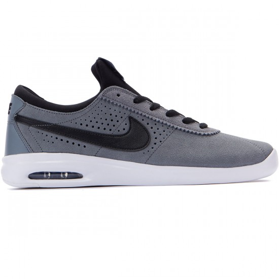 Nike SB Air Max Bruin Vapor Shoes - Cool Grey/Black/White - 8.0