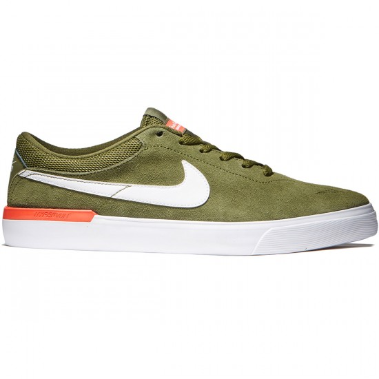 Nike SB Koston Hypervulc Shoes - Legion Green/White/Max Orange - 7.5