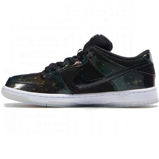 Nike SB Space Jah Dunk Low Shoes - Black/White/Metallic Grey - 7.0