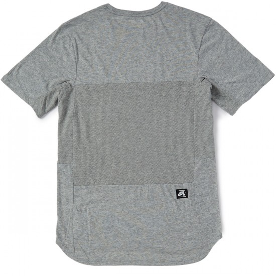 Nike SB Skyline T-Shirt - Dark Heather Grey/Black