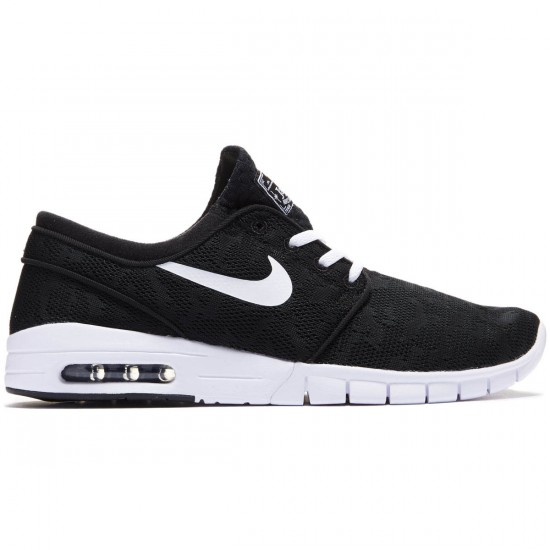 Nike Stefan Janoski Max Shoes - Black/White - 7.0
