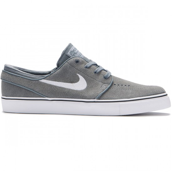 Nike Zoom Stefan Janoski Shoes - Cool Grey/White/Black - 8.0
