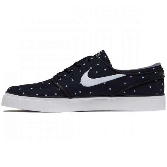 Nike Zoom Stefan Janoski Canvas Shoes - Black/White - 7.0