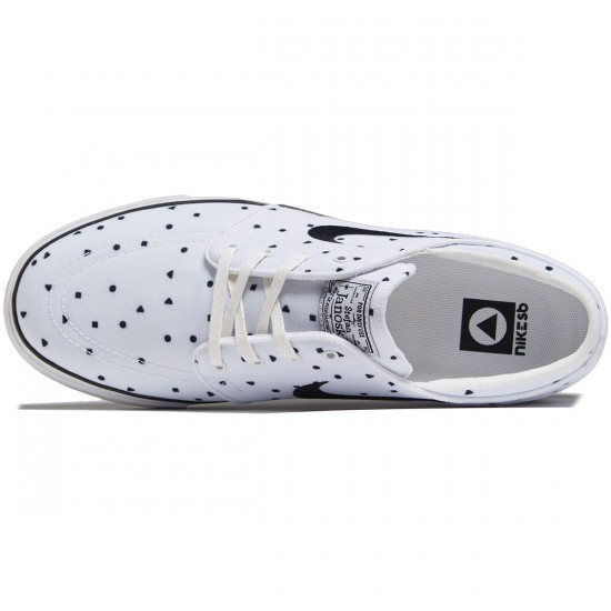 Nike Zoom Stefan Janoski Canvas Shoes - White/Black - 7.0