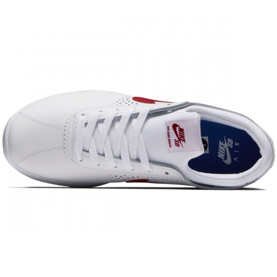 Nike SB Air Max Bruin Vapor Shoes - White/Gym Red/Game Royal - 5.5