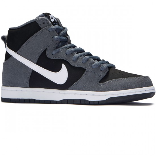 Nike Dunk High Pro SB Shoes - Dark Grey/White/Black - 7.0