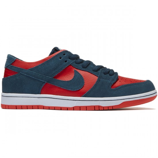 Nike SB Dunk Low Pro Shoes - Nightshade/Nightshade/Chile Red - 8.0