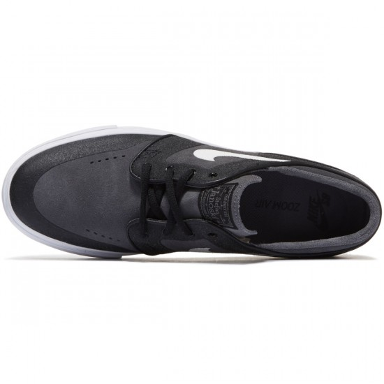 Nike Zoom Stefan Janoski Elite Shoes - Dark Grey/White/Black - 8.0